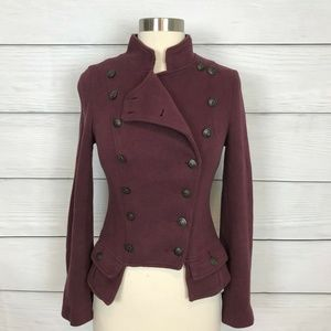Free People We The Free Majorette Jacket Red 2